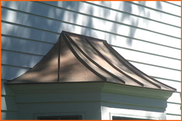 Copper roofs, downspouts and gutters add to the beauty of your home.